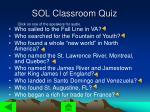 sol classroom quiz