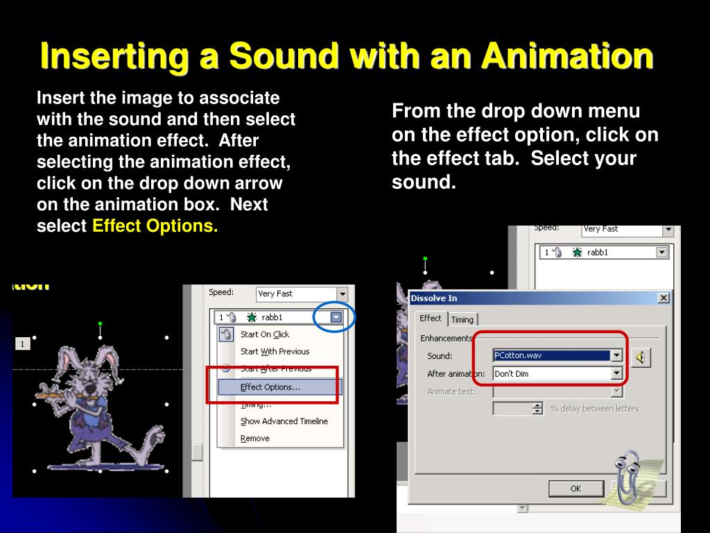 Inserting a Sound with an Animation