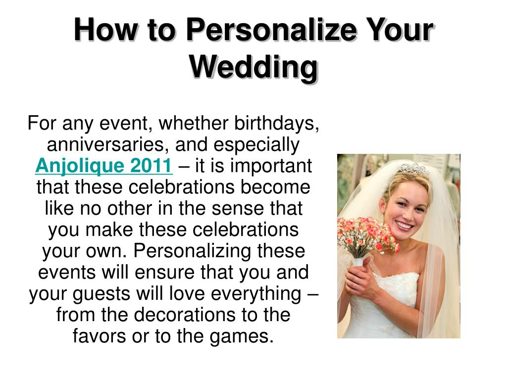 how to personalize your wedding l.
