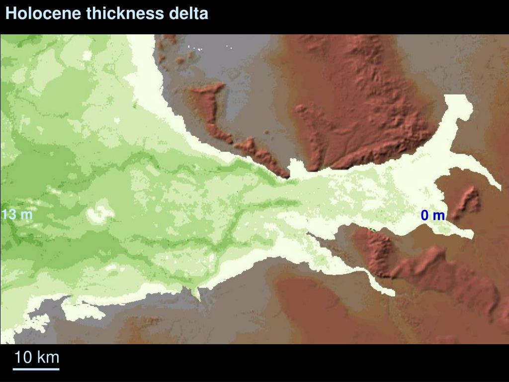 Holocene thickness delta