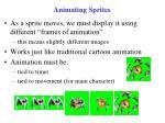animating sprites