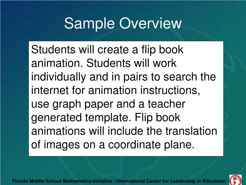 Florida Middle School Mathematics Initiative | International Center for Leadership in Education