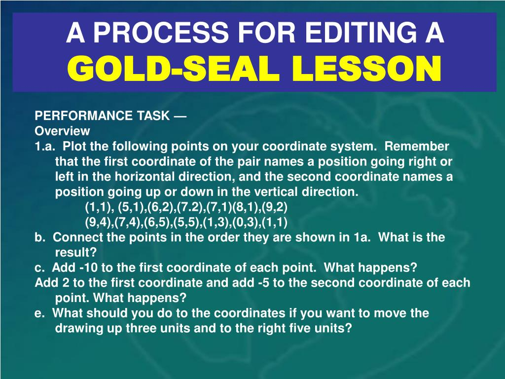 A PROCESS FOR EDITING A