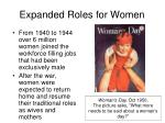 expanded roles for women49