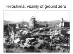 hiroshima vicinity of ground zero
