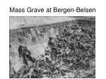 mass grave at bergen belsen