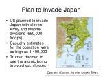 plan to invade japan