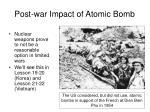 post war impact of atomic bomb47