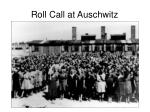 roll call at auschwitz