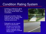 condition rating system