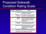 proposed sidewalk condition rating scale