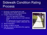 sidewalk condition rating process