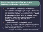 comprehensive smoke free workplace laws reduce cigarette consumption