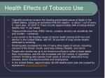 health effects of tobacco use