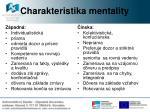 charakteristika mentality