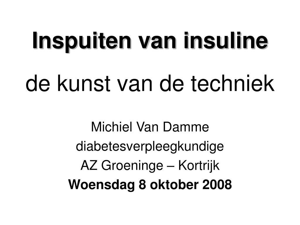 inspuiten van insuline l.