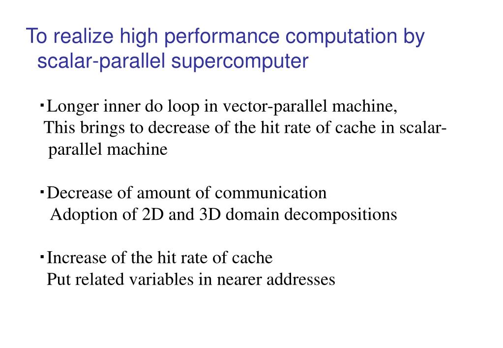 To realize high performance computation by