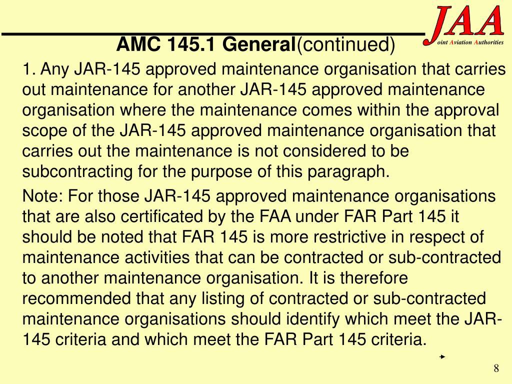 AMC 145.1 General