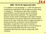 amc 145 45 b approved data120