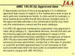 amc 145 45 b approved data121