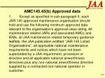 amc145 45 b approved data