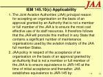 iem 145 10 c applicability