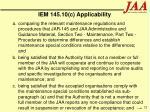 iem 145 10 c applicability32