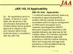 jar 145 10 applicability25