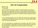 jar 145 10 applicability26