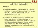 jar 145 10 applicability33