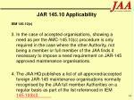 jar 145 10 applicability34