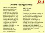 jar 145 10 c applicability29