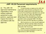 jar 145 30 personnel requirements63