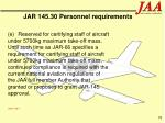 jar 145 30 personnel requirements79