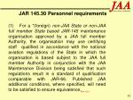 jar 145 30 personnel requirements82