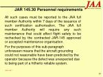 jar 145 30 personnel requirements87