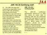 jar 145 35 certifying staff100