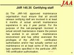 jar 145 35 certifying staff90