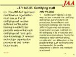 jar 145 35 certifying staff91