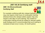 jar 145 35 certifying staff94