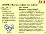 jar 145 40 equipment tools and material