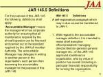 jar 145 5 definitions