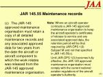 jar 145 55 maintenance records141