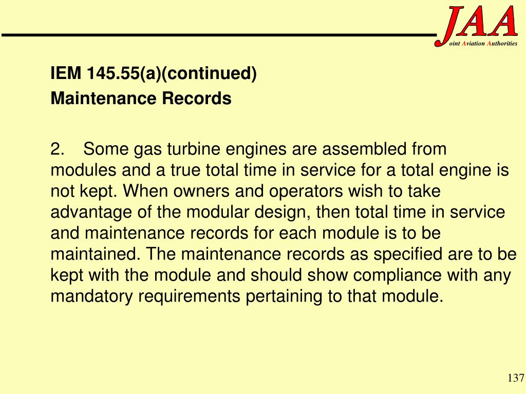 IEM 145.55(a)(continued)