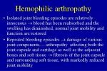 hemophilic arthropathy