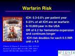 warfarin risk