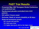 fast trial results