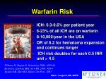 warfarin risk