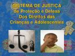 sistema de justi a de prote o e defesa dos direitos das crian as e adolescentes