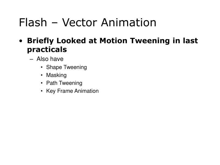 Flash vector animation